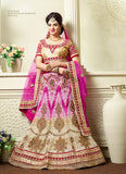 Women's Fancy Fabric & Pink Pretty A Line Lehenga Style