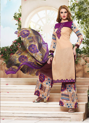 Pink with Resham Work Wonderful Unstitched Salwar Kameez