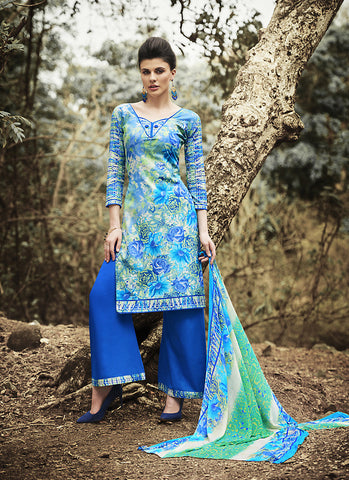 Cotton Multiple Color Astounding Unstitched Salwar Kameez