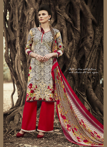 Multiple Cotton Astounding Salwar Kameez in Straight Cut Style