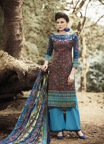 Straight Cut Style Incredible Salwar Kameez in Maroon