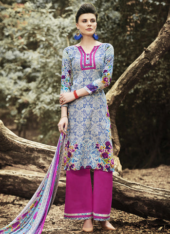 Straight Cut Style Astounding Salwar Kameez in Multiple