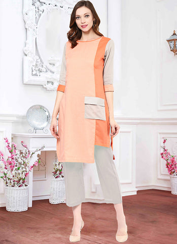 Pink Color Incredible Straight Kurti Style in Cotton