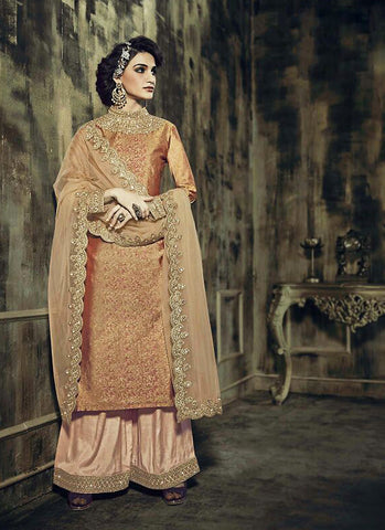 Jacquard & Silk Straight Cut Style Incredible Unstitched Salwar Kameez