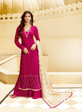 Tussar Silk Fabric with Butta Work Incredible Unstitched Salwar Kameez