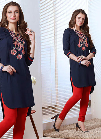 Cotton Incredible Readymade Kurti In Blue
