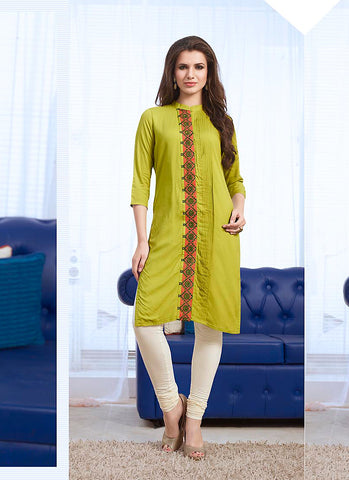 Cotton Green in Incredible Straight Kurti Style
