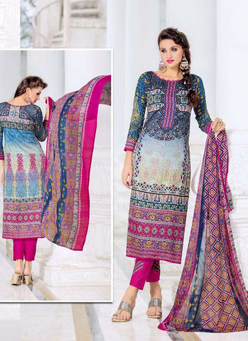 Straight Cut Style Incredible Salwar Kameez in Multiple & Satin Fabric