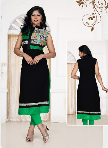 Black Georgette Incredible Readymade Kurti