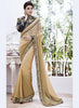 Pretty Fancy Pallu Saree in Tan Brown