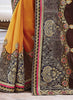 Chocolate Saree With Striking Embroidered Pallu