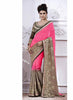 Deep Pink Color Saree With Striking Embroidered Pallu