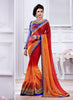 Wonderful Fancy Pallu Saree in Deep Scarlet