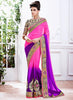 Lovely Fancy Pallu Saree in Deep Pink