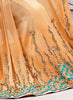 Apricot Saree With Fine-looking Fancy Pallu