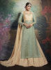 Straight Cut Style Incredible Salwar Kameez in Blue & Net Fabric
