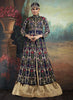 Achkan Style Incredible Salwar Kameez in Blue & Silk Fabric