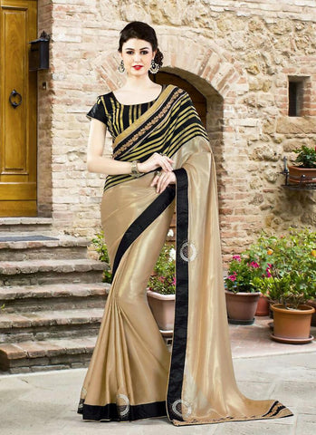 Women's Attractive Looking Ethnic Grey Georgette Saree