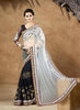 White Saree with Resham Work