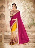 Pretty Fancy Pallu Saree in Yellow