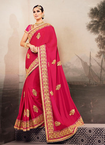 Ethnic Saree in Pink color for women