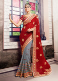 Women's Attractive Looking Ethnic Grey Butta Work Saree