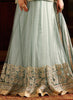 Anarkali Style Grey with Crystals Stones Work Incredible Unstitched Salwar Kameez