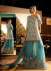 Blue Color Net Incredible Salwar Kameez in A Line Style