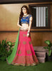 Women's Pretty A Line Lehenga Style in Silk Fabric With Lace Work Dupatta