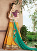 Women's Silk Fabric & Yellow Pretty A Line Lehenga Style