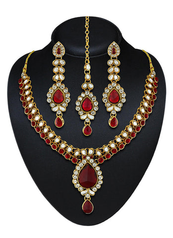 Women's Creative Necklaces in Maroon Color