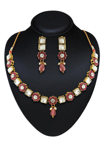 Women's Art Necklaces In Pink