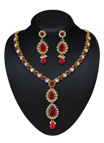 Women's Creative Necklaces in Gold, Maroon & Grey Color