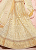 Women's Pretty Circular Lehenga Style in Beige With Beads Work Dupatta