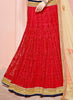 Women's Pretty Circular Lehenga Style in Crimson With Embroidery Work Dupatta
