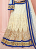 Women's Pretty Circular Lehenga Style in Off White With Embroidery Work Dupatta