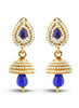 luxurious & Designer Collection In Artificial Jewellery of Earrings In Blue & Gold