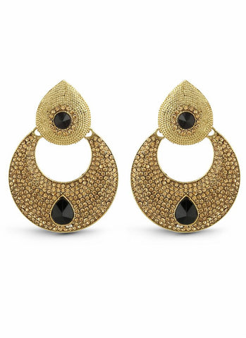 Perfect look Black & Gold Artificial Jewellery Earrings