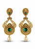 Perfect look Green & Gold Artificial Jewellery Earrings