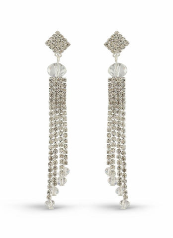 Perfect look Silver & White Artificial Jewellery Earrings