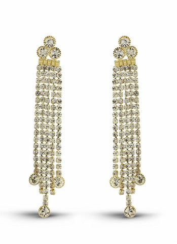 Designer & luxurious Collection In Artificial Jewellery of Earrings In White & Gold