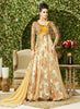 Attractive Beige Color Net Unstitched Gown