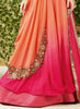 Attractive Orange Georgette Unstitched Gown