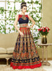 Attractive Bhagalpuri Silk Fabric Blue Unstitched Gown
