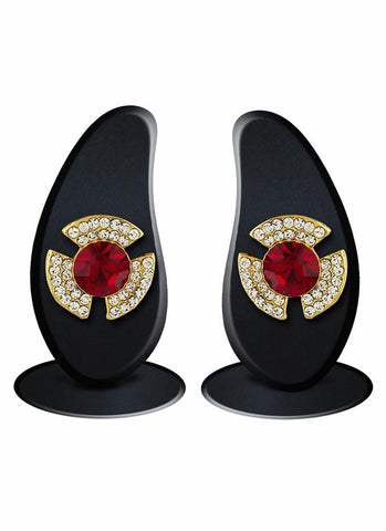 luxurious & Fantastic Collection In Artificial Jewellery of Earrings In Red & Gold