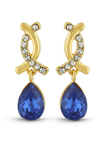 luxurious & Fantastic Collection In Artificial Jewellery of Earrings In Blue & Gold