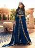 Anarkali Style Blue with Embroidery Work Astounding Unstitched Salwar Kameez