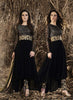 Black Georgette Wonderful Salwar Kameez in Anarkali Style