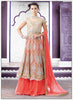 A Line Style Beige with Embroidery Work Incredible Unstitched Salwar Kameez