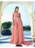 Achkan Style Pink Color with Embroidery Work Astounding Unstitched Salwar Kameez